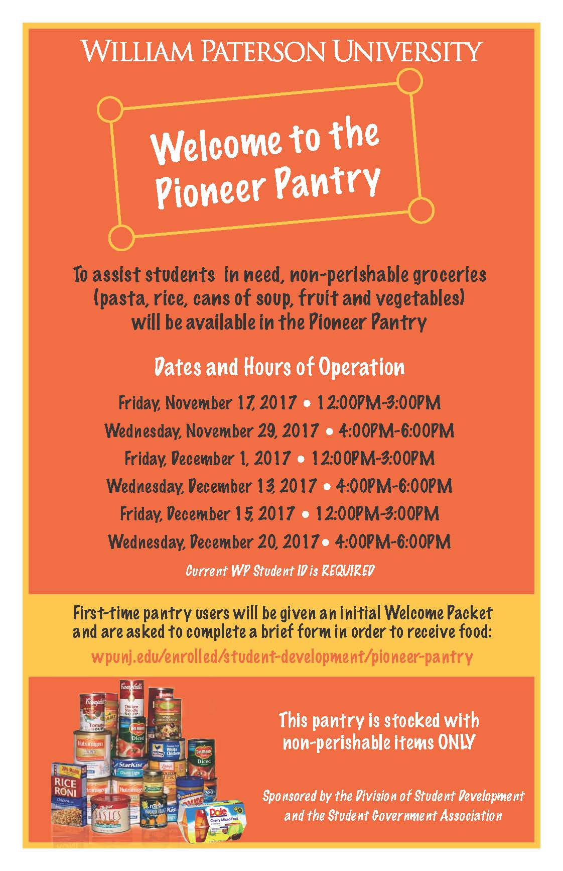Welcome to Pioneer Pantry Poster