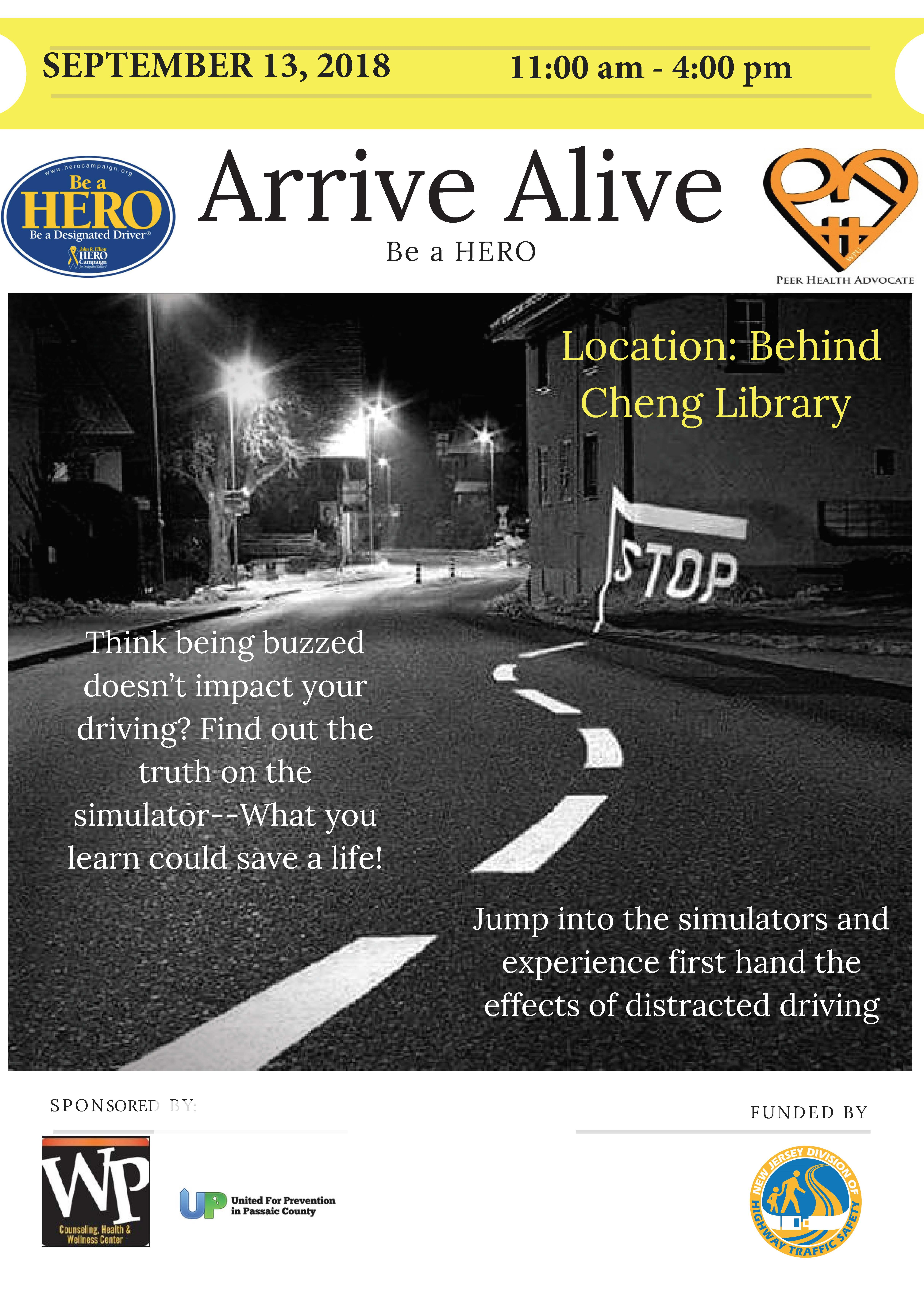 Arrive Alive Flyer FA18